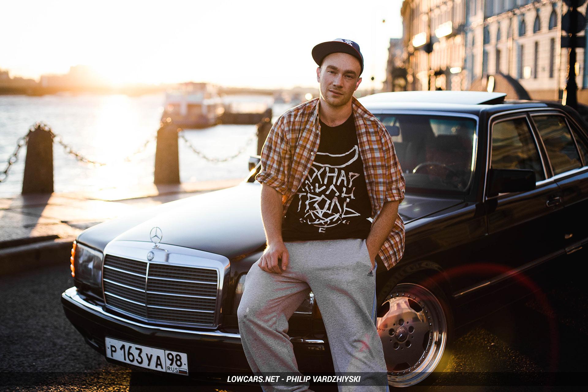 Mercedes-Benz w126 и его владелец Олег